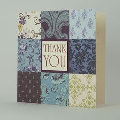 homemade thank you cards | Handmade Thank You Cards - Handmade Cards UK - Purple Patchwork ...