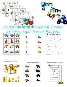 Construction Preschool Packet (from Preschool Powol Packets; 3 DAY FREEBIE)