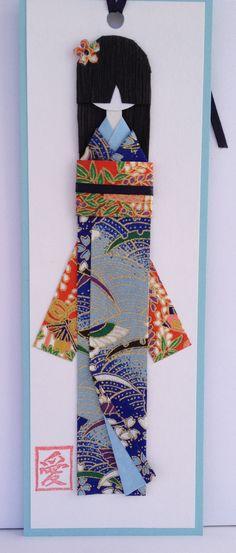 Akemi (Bright Beauty) Japanese Washi Bookmark Doll