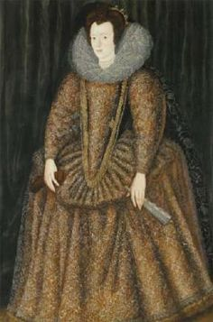 Portrait of Elizabeth Hastings, Countess of Worcester Attributed to William Segar. Was lady-in waiting to Anne Boleyn and the main informant against her when Henry wanted to be rid of her and concocted an annulment. Elizabethan Clothing, Elizabethan Dress, Elizabethan Fashion, Renaissance Costume, Renaissance Clothing, Historical Clothing, Female Clothing, Renaissance Era, Renaissance Fashion