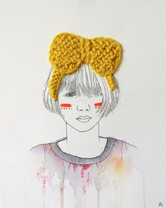 illustration with knit