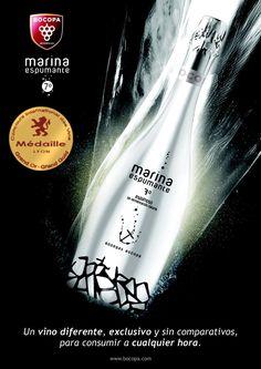 Marina Espumante un vino espumoso que cada vez sorprende a más gente por su fina burbuja, refrescante y suave proveniente de la uva Moscatel de Alejandría.  Ganador del premio Gran Oro en el concurso de Lyon, entre muchos otros.