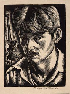 Self-Portrait ~ Wood Engraving ~ Howard Cook