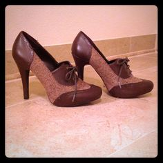 Brown Heels With Laces