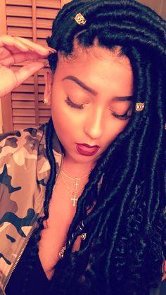 American and African Hair Braiding : Large goddess locs # goddess Braids with color # goddess Braids with color Box Braids Hairstyles, African Hairstyles, Hairstyle Ideas, Bangs Hairstyle, Hair Ideas, Blonde Box Braids, Short Box Braids, Goddess Locs, Extension Dreadlocks