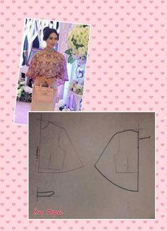 Dress Sewing Patterns, Sewing Patterns Free, Sewing Tutorials, Clothing Patterns, Sewing Projects, Colorful Fashion, Diy Fashion, Cape Pattern, Pola Lengan