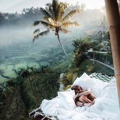 Sunrise snuggles at the tree house in Bali🖤🇮🇩 Who would you wake up with? Photo by chelsea kauai Source by thucldnguyen. Vacation Places, Dream Vacations, Vacation Spots, Italy Vacation, Bali Travel, Luxury Travel, Hawaii Travel, Travel Europe, Photos Amsterdam