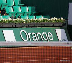 Orange est le partenaire officiel du Tournoi de tennis Roland Garros. ambiance de court #RG13 #sport #tennis