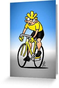 Cyclist greetingcard.    #cyslist #cyscling #greetingcard #Redbubble #Cardvibes #Tekenaartje #SOLD