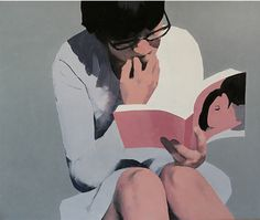 Jarek Puczel - Jarek Puczel (Jaroslaw Puczel) was born in 1965 in Ketrzyn, Poland. He studied in the Warsaw University, Faculty of Art Pedagogy and graduated from it in . Art And Illustration, Illustrations, Figure Painting, Painting & Drawing, Modern Art, Contemporary Art, Figurative Kunst, Reading Art, Woman Reading