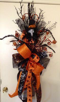 Halloween door swag