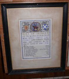 The Scottish War Memorials Project : New Abbey United Free Church WW1 Roll of Honour