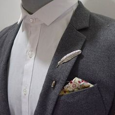 Lapel adornments to Up your game! #mensfashion