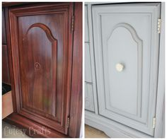 Transform an old buffet table into the perfect TV console with a little bit of paint! Yesteryear