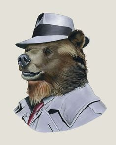 Grizzly Bear Kunstdruck von Ryan Berkley 8 x 10