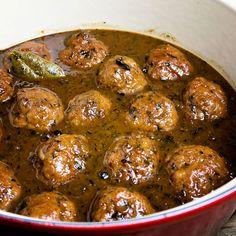 Luikse gehaktballetjes met een heerlijke saus