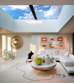 Living Room - London penthouse with retractable roof♔PM Penthouse London, Penthouse For Sale, Luxury Penthouse, Decoration Design, Deco Design, London Living Room, Room London, Living Rooms, Living Spaces