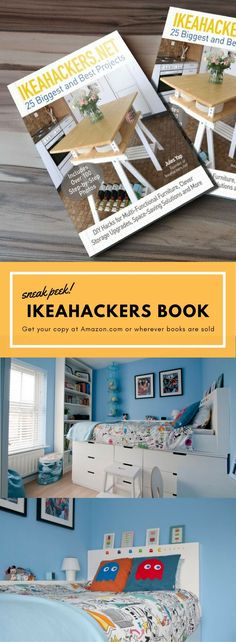 One of the projects in the book is this amazing cabin bed by Jane Taylor. Get your copy today. http://www.ikeahackers.net/2017/08/ikeahackers-book-amazing-cabin-bed.html
