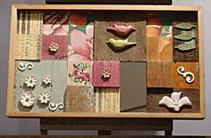 quadros de parede com madeira de demolição - Pesquisa Google