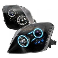 Honda Prelude Black CCFL Halo Headlights for Coupe   Spec-D   Fits 1997, 1998, 1999, 2000, 2001