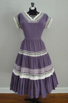 Vintage 1950s 50s Squaw Dress Patio Dress by littlestarsvintage