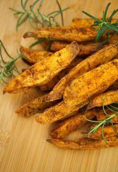 Receita de batata doce rústica de forno bem crocante