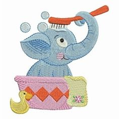Bathtime Elephants 6 - 4x4   What's New   Machine Embroidery Designs   SWAKembroidery.com Ace Points Embroidery