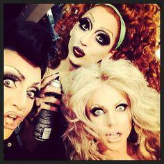 BenDeLaCreme, Bianca Del Rio, and Courtney Act.