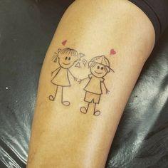 Tatuagem para filhos: 90 ideias para gravar seu amor de mãe na pele Brother Tattoos, Print Tattoos, Tattoo Ideas, Sons, Studio, Baby, Instagram, Kid Tattoos, Daughter Tattoos