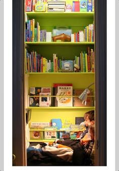 Turn your closet into a library!!