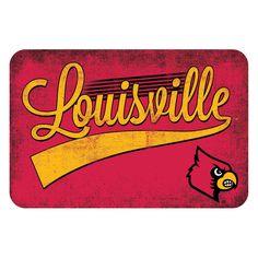 Louisville Cardinals NCAA Kitchen Rug (Swoosh Series) (20x30)