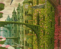 ღღ Jacek Yerka is a Polish painter of fantasy world and landscapes.
