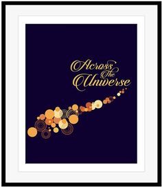 The Beatles Lyric Art Print ACROSS THE UNIVERSE Song Lyrics Music Poster Decor