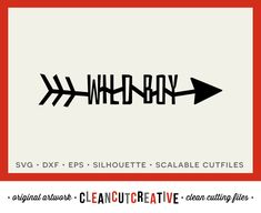 Wild Boy Arrow - SVG Studio3 DXF EPS png - cut file cutting file clip art clipart - for Cricut and Silhouette Cameo - clean cutting files by CleanCutCreative on Etsy