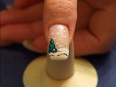 Winter landscape as Christmas motif for the fingernails Love Nails, Pretty Nails, Fingernail Designs, Finger Nail Art, Holiday Nail Art, Nail Art Videos, Christmas Nails, Xmas, Beautiful Nail Art