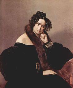 Donna (Lady) Felicina Caglio Perego di Cremnago - Francesco Hayez (Italian painter 1791-1882)