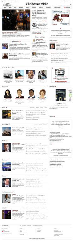 www.bostonglobe.com    Responsive Web design