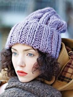 Knit this fashion deep rib slouchy hat from Easy Winter Knits. A design by Martin Storey using Big Wool, one of our most popular chunky yarns made from 100% wool. This pattern is suitable for intermediate knitters.