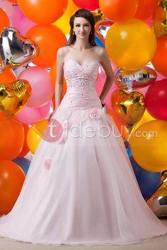 Encantador Vestido de Quince Años Ball Gown y Largo al Piso Sin Tirantes Quinseañera dresses ♥LB♥ http://es.tidebuy.com