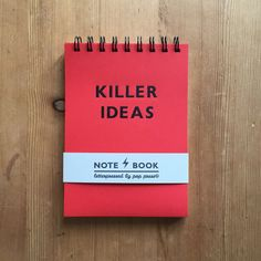 Killer Ideas Red Notebook from Go Aesthetic | Pop Press