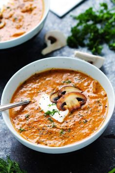 Hungarian Mushroom Soup with Fresh Dill: Give your family dinner some extra oomph with these earthy, smoky flavors.