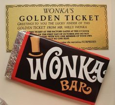 Fun invitation at a Willy Wonka & Candyland Birthday Party! See more party… Golden Birthday Parties, Sweet 16 Birthday, 16th Birthday, Birthday Ideas, Willy Wonka, Candy Land Theme, Wonka Chocolate Factory, Sweet 16 Parties, Candy Party