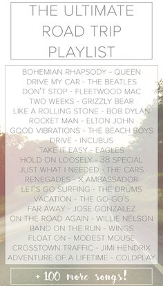 Ultimate Road Trip Playlist   Travel Music Song List   The Wanderful Soul