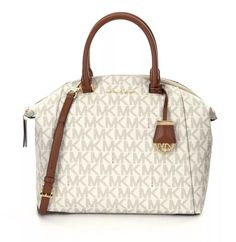 Michael Kors Riley Large Signature Satchel Vanilla | eBay