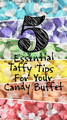 If you're planning on having Salt Water Taffy in your candy buffet then you might have a few questions that we would be more than happy to help you answer. You might want to know how many pieces are in a cup, or what is the best brand, how much taffy should you buy or what are the most popular flavors and so on. Don't you worry there, we've got your back with the answers to these questions and a whole bunch more. #taffy