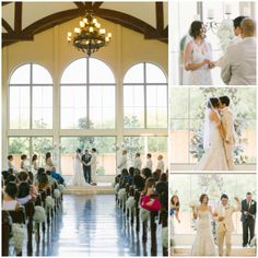 Chapel at Ana Villa in The Colony, Texas (North Texas) is absolutely breathtaking. The wall of windows creates a gorgeous backdrop for any wedding ceremony. #dfw #dallasweddingvenue #fortworthweddingvenue #waltersweddingestates