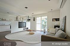 電視牆 客廳與廚房格局
