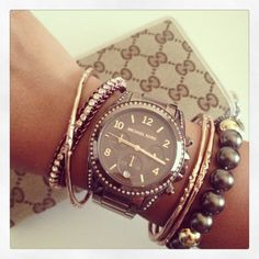 Michael Kors Brown Watch - $215