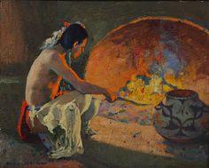 Oil on artist board by. Native American Paintings, Indian Paintings, Native American Indians, American Artists, Oil Paintings, American Indian Art, European American, Southwestern Art, Art Studies