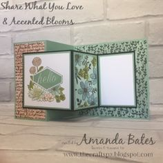 Share What You Love Accented Blooms Double Z Joy Fold Card by Amanda Bates at The Craft Spa. Join Stampin Up UK and get 10 free ink pads. Paper Sale starts today - buy 3 get one free. Joy Fold Card, Fun Fold Cards, Folded Cards, Z Cards, Love Cards, Stampin Up Cards, Get Well Cards, Card Tutorials, Color Card